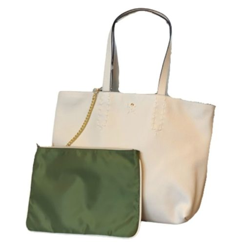 PATTY BIG Reversible Tote Bag Cream/Olive