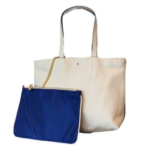 PATTY BIG Reversible Tote Bag Cream/Blue
