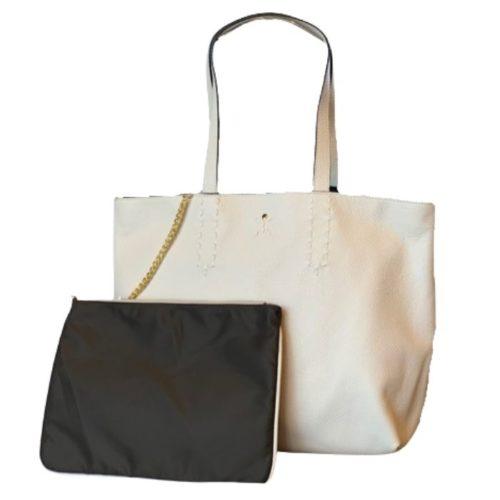 PATTY BIG Reversible Tote Bag Cream/Brown