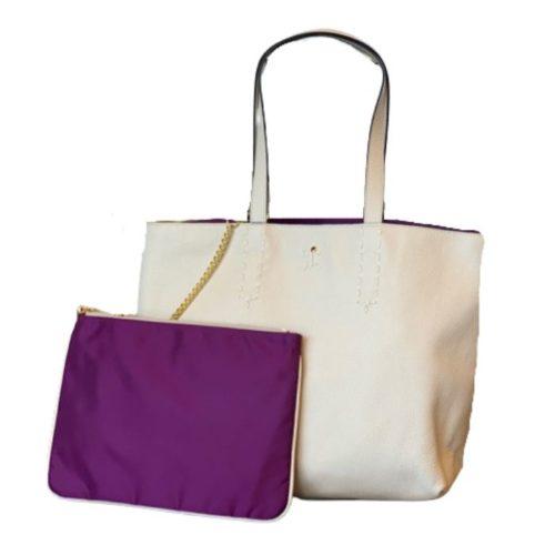 PATTY BIG Reversible Tote Bag Cream/Purple