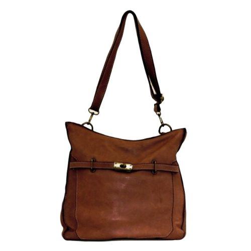 MIRIAM Crossbody Bag With Locket Brown