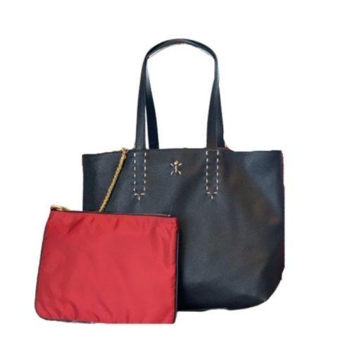 PATTY Reversible Tote Bag Black/Red