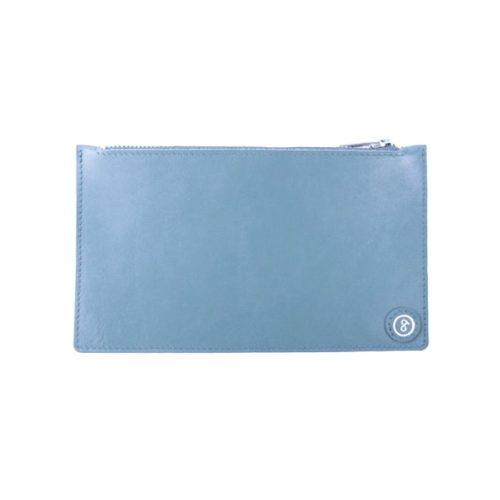Leather Pouch Powder Blue