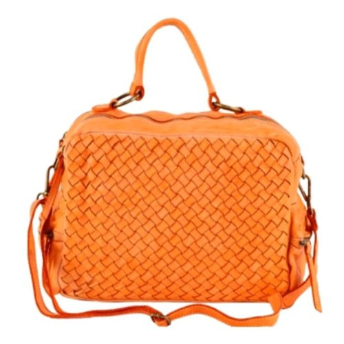 DILETTA Hand Bag Woven Orange