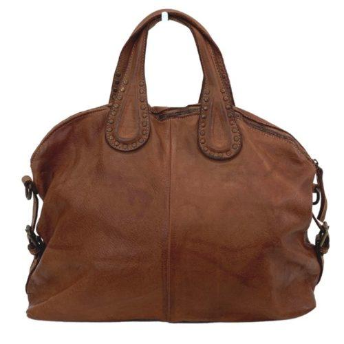 LILIANA Handbag With Studded Handle Terracotta