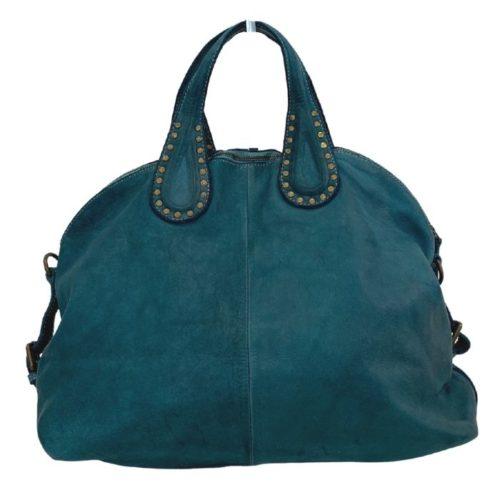 LILIANA Handbag With Studded Handle Teal