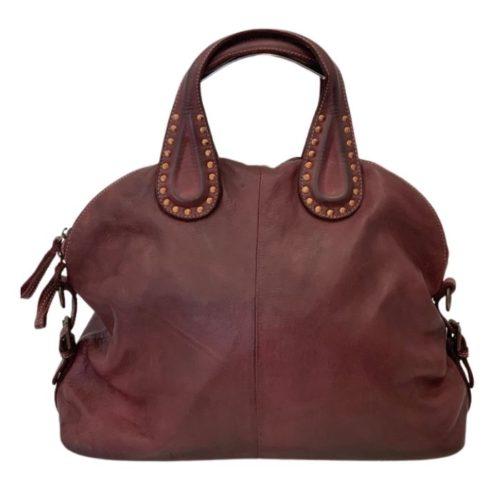 LILIANA Handbag With Studded Handle Bordeaux