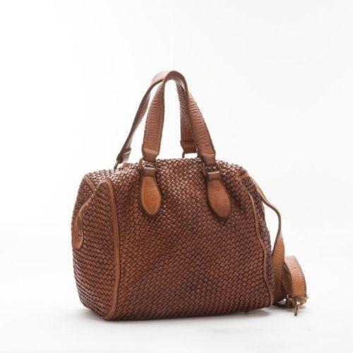 MIRTILLA Woven Bowler Bag Tan