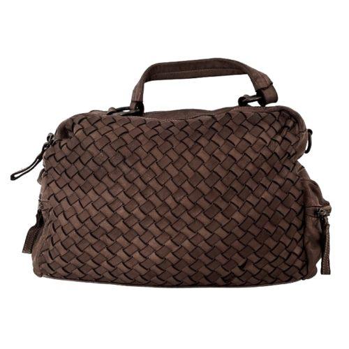 DILETTA Hand Bag Woven Dark Brown
