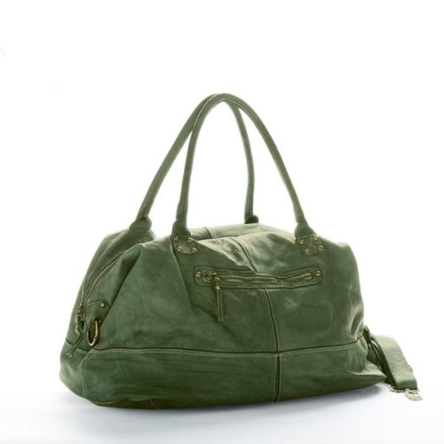 FIONA Large Duffle Weekender Travel Bag Army Green