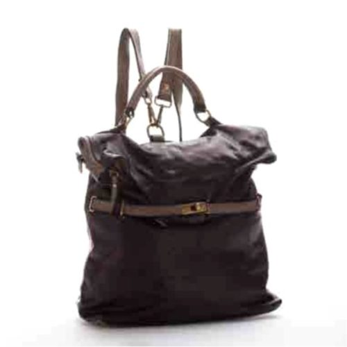 CORINNE Backpack Black + Grey Details