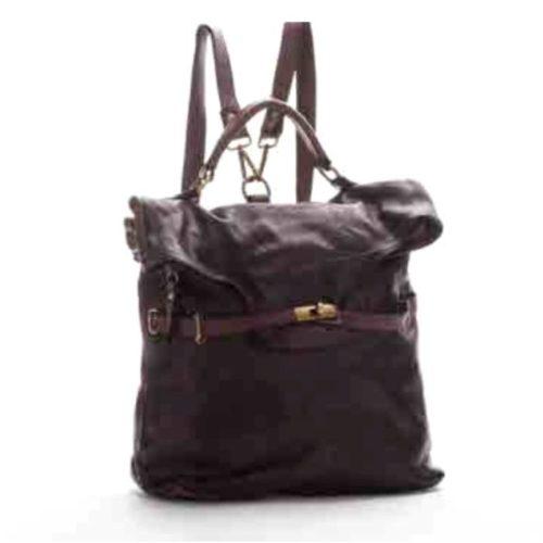 CORINNE Backpack Black + Bordeaux Details