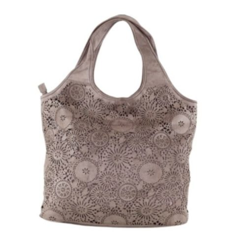 FIORELLA Shoulder Bag With Laser Cut Detail – Taupe