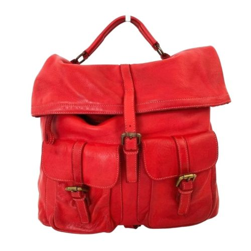 RACHELE Backpack With Two Pockets Red