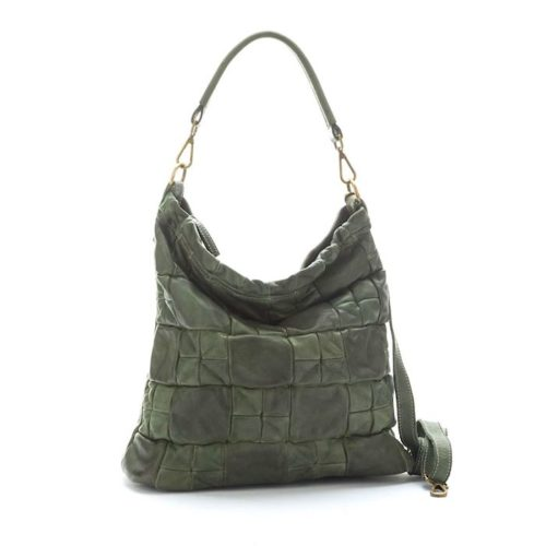 VITTORIA Chequer Effect Bag Army Green