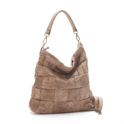 VITTORIA Chequer Effect Bag Beige