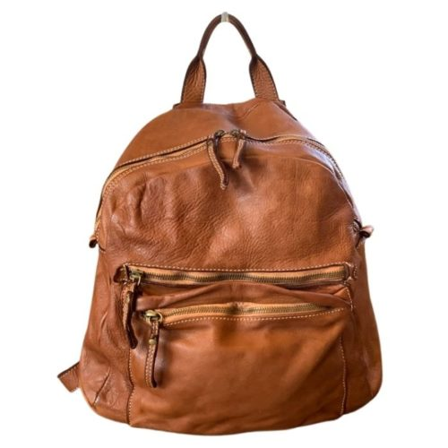 DAPHNE Leather Backpack Tan