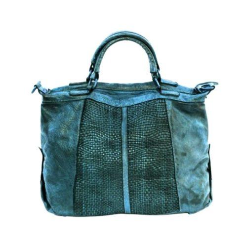 NADIA Hand Bag Woven Details Teal