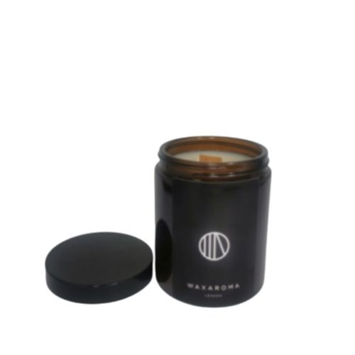 Leather Scented Candle In Amber Jar (180ml)