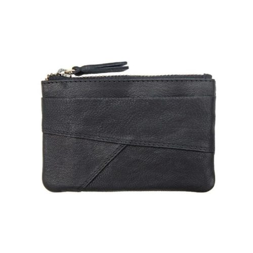 Coin Purse With Zip Black