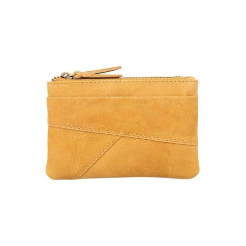 Coin Purse With Zip Mustard