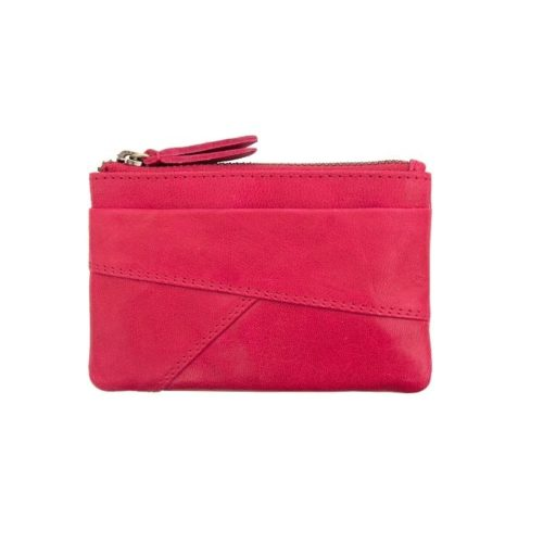 Coin Purse With Zip Raspberry