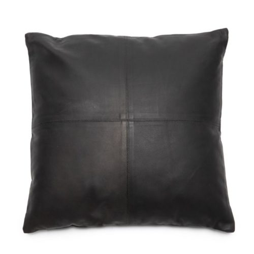 Four Panel Leather Cushion Cover Large