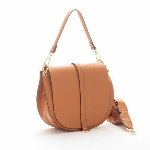 VITTORIA Medium Saddle Bag Tan