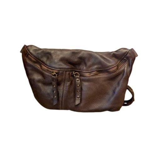 Zita Leather Bumbag – Dark Brown