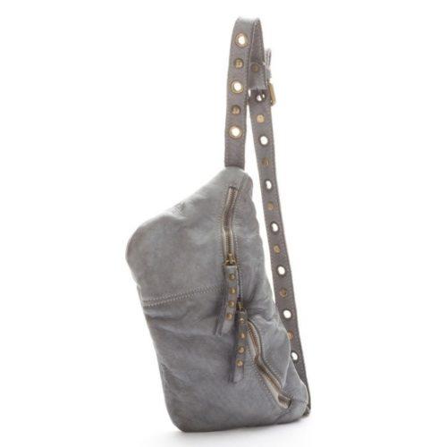 Zita Leather Bumbag – Grey