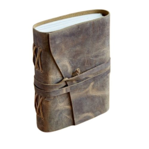 Fair Trade Buffalo Medium Leather Journal Brown