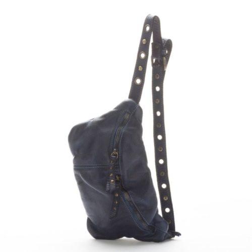 Zita Leather Bumbag – Navy