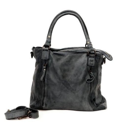 FLAVIA Square Handbag With 2 Zipped Pockets Black