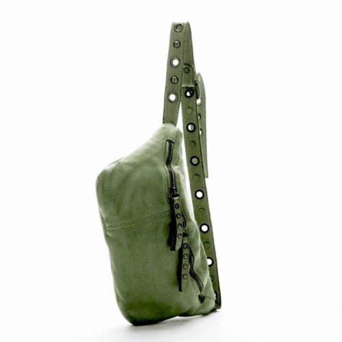 Zita Leather Bumbag – Army Green